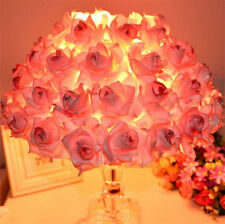 Pink Roses Crystal LED Table Lamp Desk Light Reading lamp Bedroom Lighting LD033