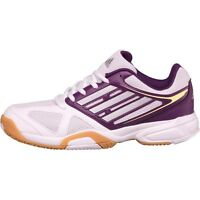 ADIDAS OPTICOURT LIGRA 2 INDOOR TRAINERS - WHITE AND PURPLE - SIZE 6 – BNIB