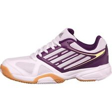 ADIDAS OPTICOURT LIGRA 2 Indoor Trainers-White and Purple-Size 5-Entièrement neuf dans sa boîte