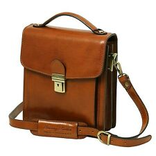 Tuscany Leather DAVID Leather Genuine Cross body Bag - Small size luxury quality