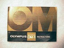 Olympus OM-1 Instructions   $8.75  
