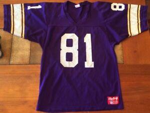 Rawlings 80s Minnesota Vikings Anthony Carter #81 Jersey Purple Men Med NFL USA!