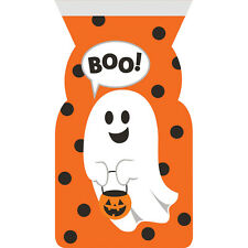 12 x Self Seal Ghost & Boo Halloween Loot Treat Bags Party Favour Bags