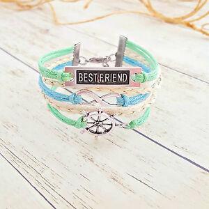 Best Friend Rudder Infinity Charm Bracelet, Nautical Bracelet, Friendship Gifts