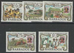 BARBADOS SG965/9 1991 25th ANNIV OF INDEPENDENCE MNH