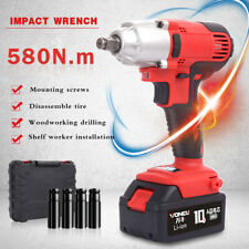20v Max 580nm Electric Cordless Brushless Impact Wrench 12 With Battery