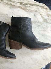 Madewell Black Leather Women's Boots Size 7.5 Ankle Shoe Casual