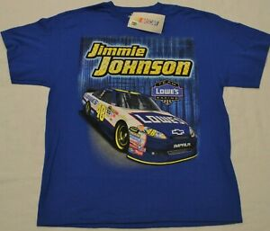 Jimmie Johnson Lowe's Racing Nascar T-Shirt New with Tags Size XL