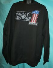 New Harley-Davidson Men's LongSleeve Sweat Shirt-Medium/Black #R0033814