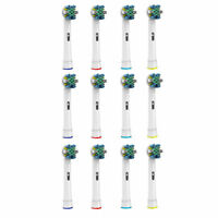 Pursonic 12 pack Floss Action Replacement Brush Heads for Oral B