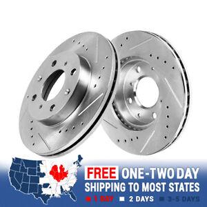 Stirling 2014 For Mitsubishi Mirage Front Disc Brake Rotors and Ceramic Brake Pads