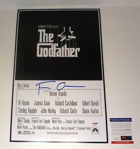 Francis Ford Coppola Signed Autograph The Godfather Movie Poster PSA/DNA COA