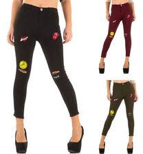 Normalgröße L32 Damen-Jeans mit hoher Bundhöhe