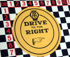 Drive on the Right Vintage Style Sticker for British Classic Car - Austin Morris
