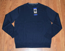 NWT Mens NAUTICA Navy Blue Crew Neck Sweater Size Large L