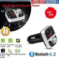 Wireless InCar Bluetooth FM Transmitter MP3 Radio Adapter Car USB Fast Charge