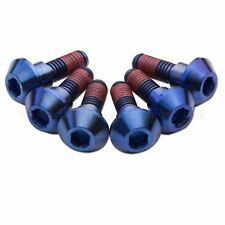 6x Yamaha YZF-R6 R6 98-02 Blue Titanium Rear Disc Rotor Bolts, Threadlock