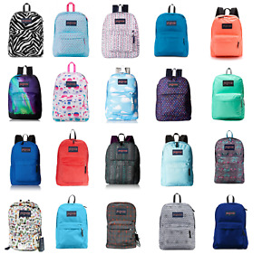 JANSPORT SUPERBREAK BACKPACK 100% AUTHENTIC SCHOOL BAG BLACK,RED,GREY,BLUE,WHITE