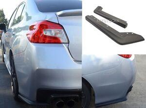 Fits 15-17 Subaru WRX OE STI Style ADD-ON Rear Bumper Lip Spat Valance Chin ABS