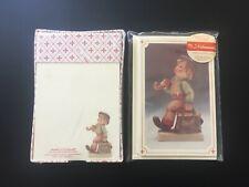 90s M.J. Hummel Merry Wanderer Stationery 8 Cards & Envelopes, Notecards w/ Box