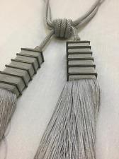 Silver Tie Backs - Tassel