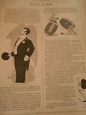 Un Peu de Sport Au Pélican Match aux tonneaux par Mich Print Humour 1906