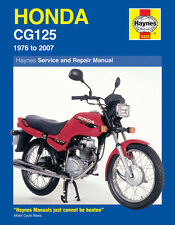 Honda motorcycle repair manuals literature ebay honda cg125 1976 2007 haynes manual 0433 new fandeluxe Images