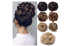 Curly/Wavy Scrunchie Mess Bun Hair Updo Hairpiece Extensions Ponytail UK Seller