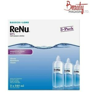 Bausch&Lomb ReNu MPS Multi-purpose Contact Lens Solution 3x240ml 3 month supply