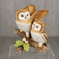 Homco Home Interiors Owl Pair Bird Figurine Porcelain 6""