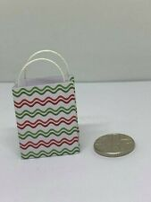 Handmade 12th Scale Dolls House Miniature Accessory Wavy Patterned gift bag