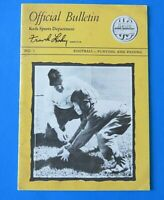 OFFICIAL BULLETIN Keds Sports Department With FRANK LEAHY NOTRE DAME ~ VINTAGE