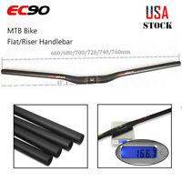 EC90 Bike Handlebar Carbon 25.4/31.8*660-760mm MTB Mountain Cycle Flat/Riser Bar