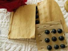 lot 24 anciens boutons à bottines noir 0,7 et 0,8  cm environ