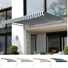 3.5x2.5M Awning Sunshade Garden Canopy Retractable Shelter Manual Outdoor Patio