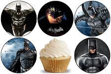 24 Muffin/ Cupcake Batman Gateau Disque Azyme Comestible Anniversaire