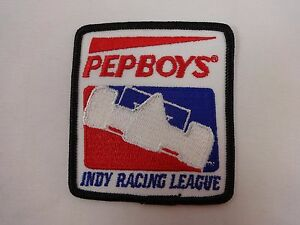 PEP BOYS Indy Racing League Collector Emblem Iron-On-Patch IndyCar Serie Indy500