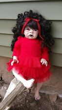 "Reborn Doll Fantasy Baby Goth Horror Vampire 18"" Amazing Beautiful HALLOWEEN"