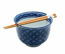 Japanese Ramen Udon Noodle Pho Bowl With Chopsticks Gift Set 5 Inch Weave