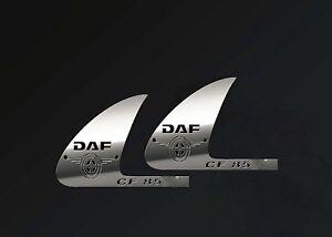 Daf CF85 Cabin Decorations Door Aplication S.Steel Accessories 1 Set (2 Piece)