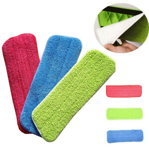 Microfiber Floor Pads Spray Water Spraying Flat Dust Mop Cleaning Replacement