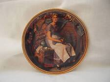 Norman Rockwell Rediscovered Women Collectible Plate Dreaming In The Attic1983