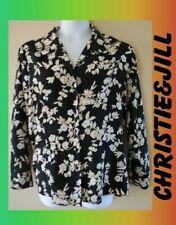 WOMEN'S PLUS SIZE 2X 18W FLORAL PRINT FLOWING SUMMER BLOUSE CLOTHING