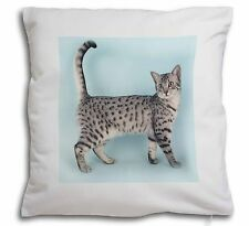 Egyptian Mau Cat Soft Velvet Feel Cushion Cover With Inner Pillow, AC-35-CPW