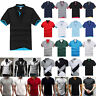 Men's Polo Shirt Dri-Fit Golf Sports Striped Casual T Shirt Jersey Short Sleeve