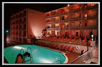 Rehoboth Beach Delaware Atlantic Sands Motel Pool Scene Postcard
