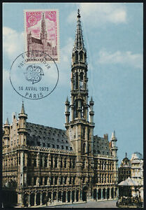 France 1366 on Maxi Card - Europa, Brussels City Hall