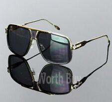 Hombre Aviador Dorado Moda Hip Hop Espejo Gafas de Sol DMC Run Cuadrado Gazelle