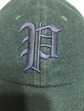 Polo Ralph Lauren Wool Gothic P Baseball Hat Cap Fitted Size Small Bottle Green