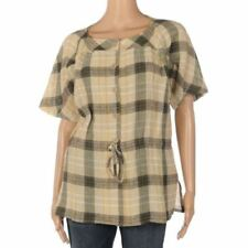 Linen Casual Tops & Blouses for Women with Buttons
